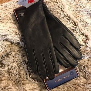 NWT Adrienne Vittadini Leather Gloves